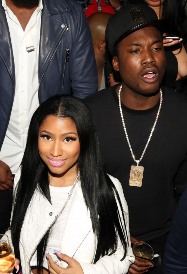 Nicki Minaj and Meek Mill at Fight Night, Las Vegas day party