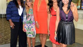 Hosts Of 'The Real,' Tamar Braxton, Loni Love, Adrienne Bailon, Jeannie Mai And Tamera Mowry-Housley Visit NYC