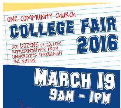 One Community Church College Fair