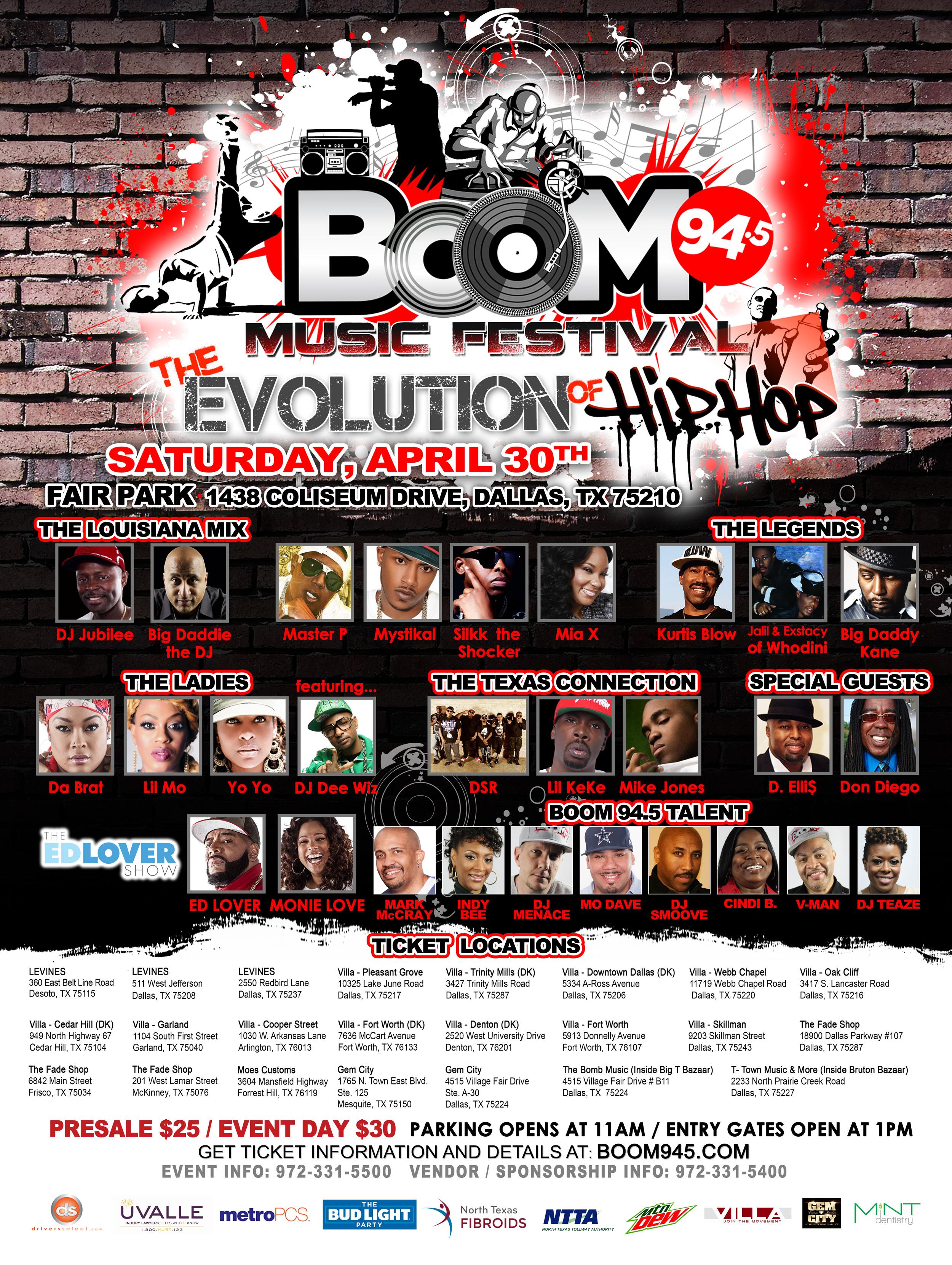 Boom Music Festival Flyer update 4/6