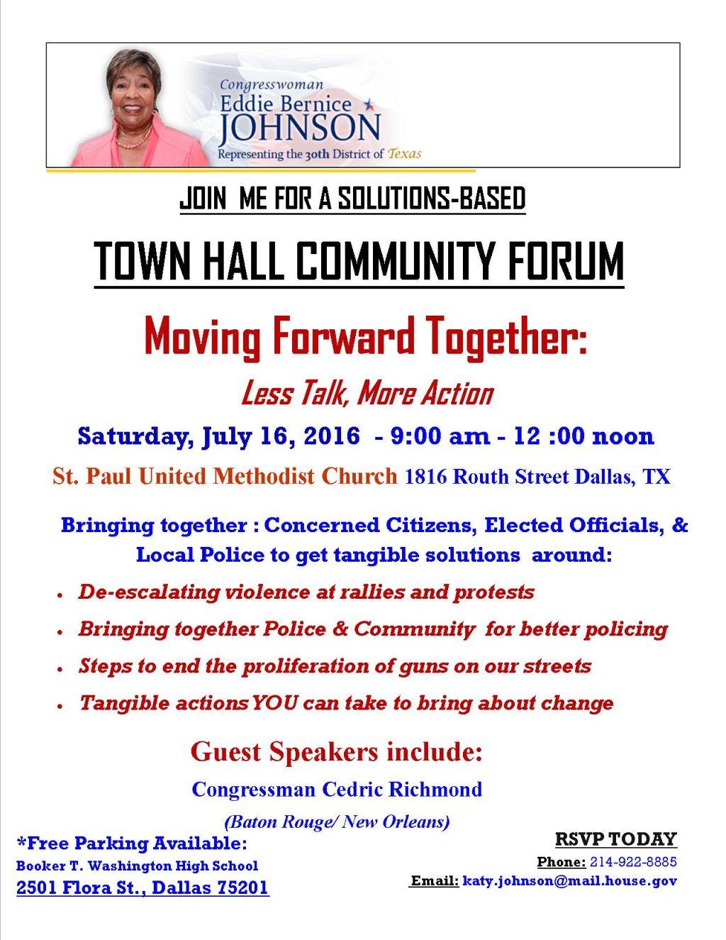 Town Hall Community Forum