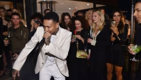Tyga surprised Balmain's creative director, Olivier Rousteing, with a live performance at his 30th birthday celebration