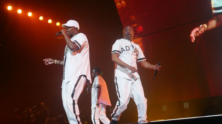 Diddy, 112, Mase, Lil' Kim, Faith Evans, French Montana, Carl Thomas, Total, DMX and Erykah Badu perform at the Bad Boy Family Reunion Tour in Dallas