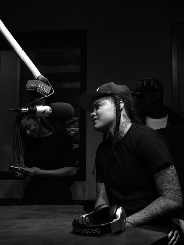 Young M.A. In Studio with J-Kruz