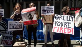Protestors Call For Removal Of Bill O'Reilly At Fox News HQ In New York
