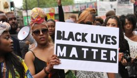 Black Lives Matter Solidarity March Held In Brixton