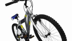 Close up of a mountain bike