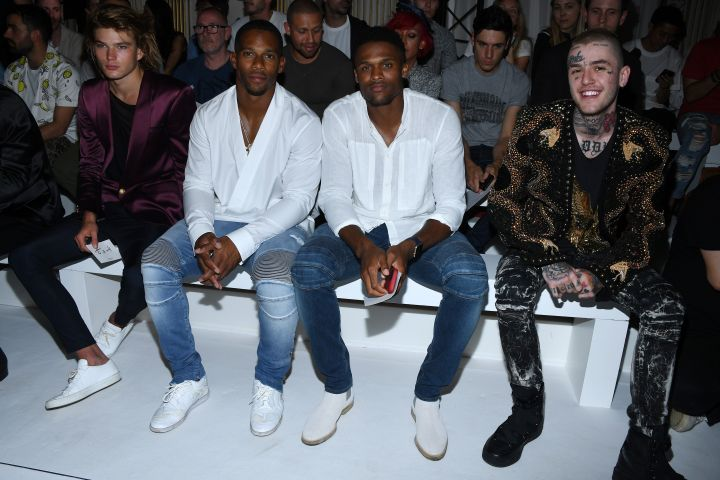 Balmain : Front Row – Paris Fashion Week – Menswear Spring/Summer 2018