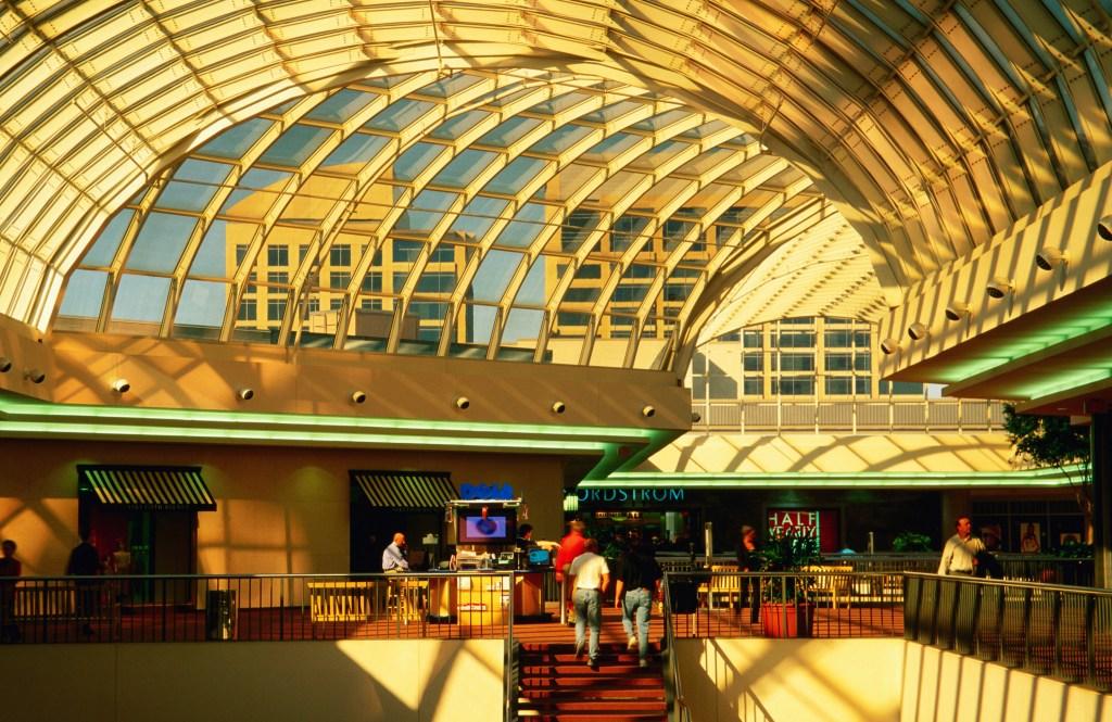 Interior of Galleria Shopping Mall, Dallas, Texas, United States of America, North America