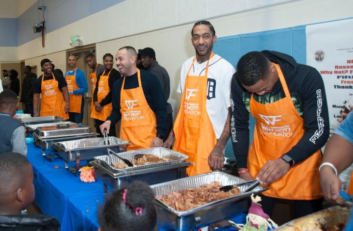 Russell Westbrook and Why Not? Foundation Host 5th Annual Thanksgiving Dinner