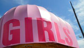 Girls strip club entrance.