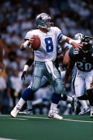 Troy Aikman, Dallas Cowboys / Philadelphia Eagles Gameplay On Monday Night Football