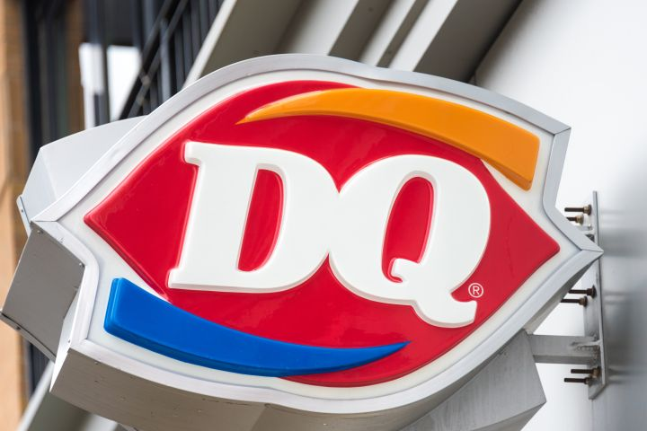 Dairy Queen Signage or DQ: international frozen products...