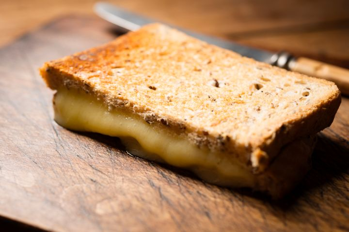 Toasted Cheese Sandwich.