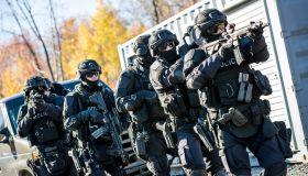 Police Swat Team at Work