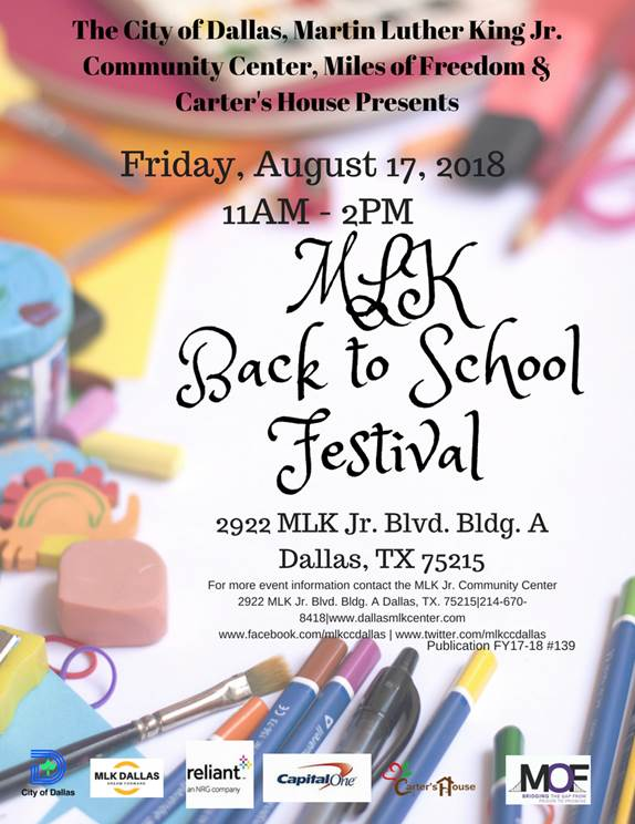 MLK Center Back To School Give-a-way