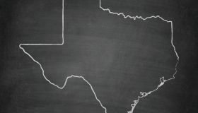 Texas Map on Blackboard - Chalkboard