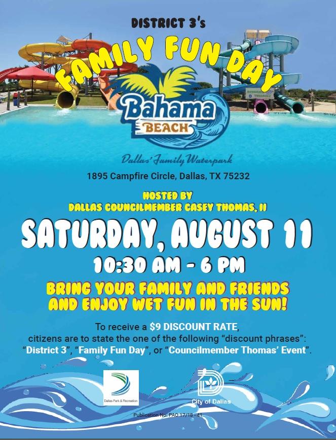 Bahama Beach Day Councilman Casey Thomas