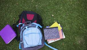 Books and backpacks