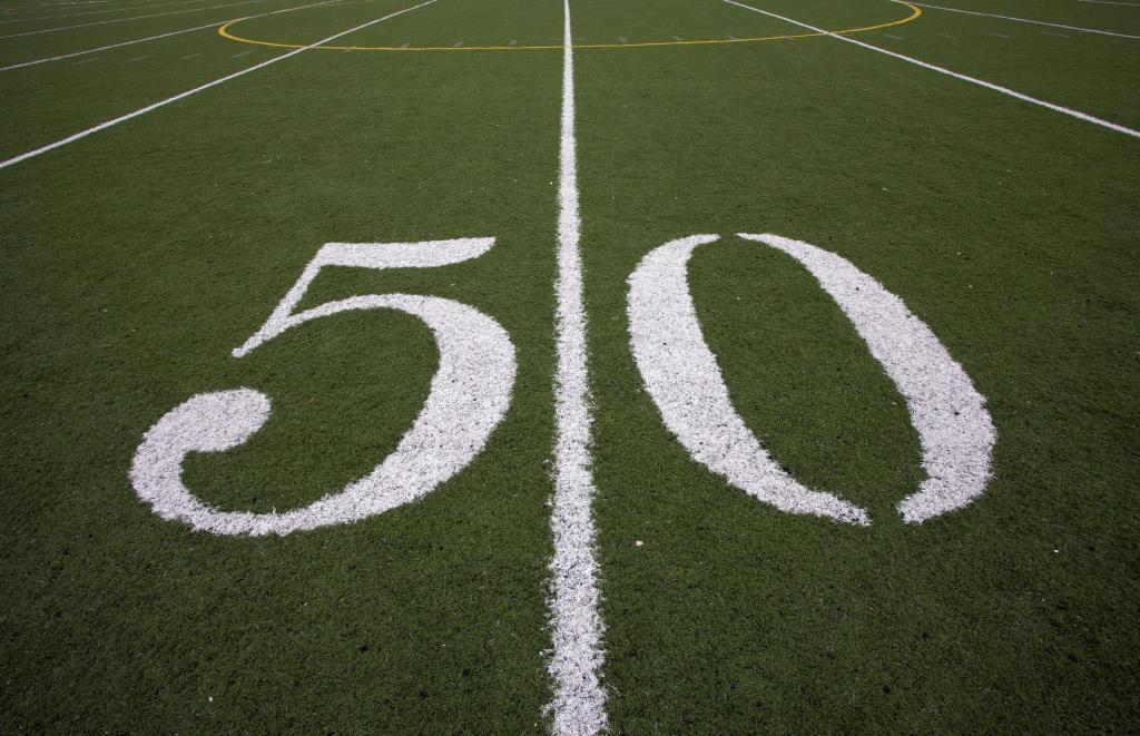 50 yard line football field