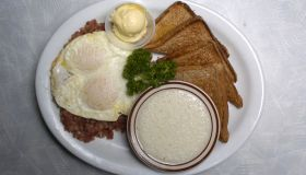 Corned beef hash from Denny's.