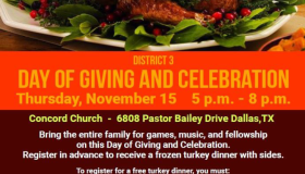 District 3-Day of Giving and Celebration