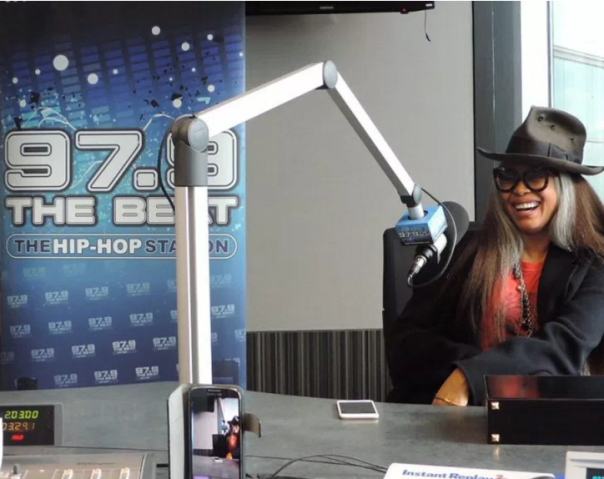 Erykah Badu in 97.9 Studio