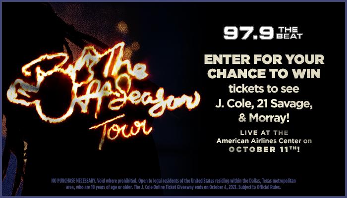 J. Cole Online Ticket Giveaway_RD Dallas KBFB_July 2021