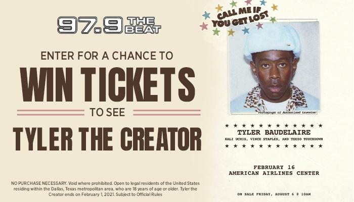 Tyler the Creator Online Ticket Giveaway